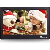 Arzopa 10'' HD IPS Cadre Photo Numérique de l'écran 16:9 MP3 MP4 Musique Vidéo Player Réveil Calendrier Lecteur Random Avec Télécommande