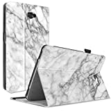 Samsung Galaxy Tab A 10.1 Hülle Case, Infiland Slim Fit Folio PU-lederne dünne Kunstleder Schutzhülle Cover Tasche für Samsung Galaxy Tab A 10.1 Zoll Wi-Fi/ LTE (2016) SM-T580N/SM-T585N Tablet-PC(mit Auto Schlaf / Wach Funktion)(Marmor)