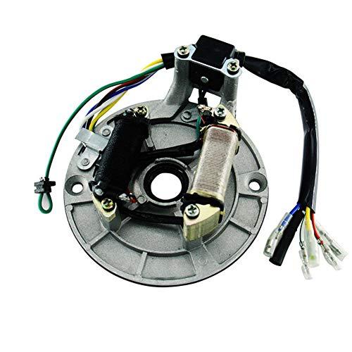 YSHtanj Magneto Spule Motorrad Teile Rotor 125 cc Pitbike Motorrad Stator Plate Pickup Magneto Spule Rotor Teil -