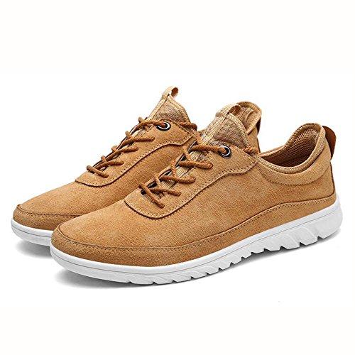 Feifei Chaussures Homme Printemps Et Automne Mode Anti-dérapant Chaussures Décontractées Et Anti-usure 3 Couleurs (couleur: Marron, Dimensions: Eu / 41 / Uk7.5-8 / Cn42) Marron