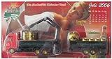 Sachsen Pils Nr.E041 - Kalender Truck - Juli 2006 - MAN - Hängerzug Mit Ladekran