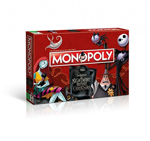 Monopoly - The Nightmare Before Christmas - Deutsch - 6 Sammler Spielfiguren | Gesellschaftsspiel | (Filme Original Disney Halloween)