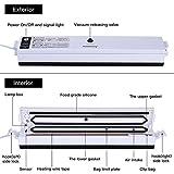 KINDEN Vakuumierer Vakuumiergerät Folienschweißgerät LebensmittelVersiegler mit Heizspule inkl. 15 Vakuumbeutel - 4