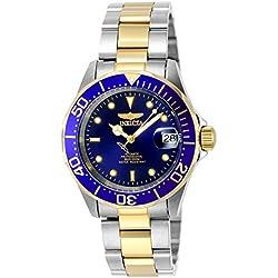 "Invicta INVICTA-8928 Reloj Automatico Unisex ""correa de acero inoxidable"" Azul/Plateado/Dorado"