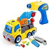 YRE Kinder Puzzle Demontage Engineering-Fahrzeug, Baby-abnehmbare Montage elektrische Nuss-Werkzeugspielzeug, Junge Geschenke,A