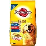 Pedigree Adult Dry Dog Food, Chicken and Vegetables, 10kg Pack