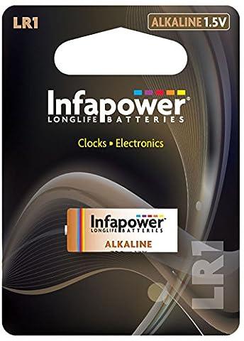 Infapower Lr1 Alkaline-Batterie, 1,5 V, für Uhren & Electronics Ersatz-Zelle (Lr1 Akku)