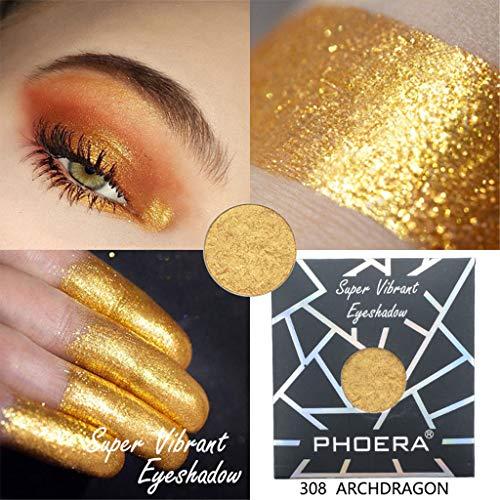 Women Best Gift! Beisoug PHOERA Customize Magnetische Pan-Lidschatten-Kollektion Shimmer Glitter Eye Shadow Po - Sieht Das Augen Make-up Entferner