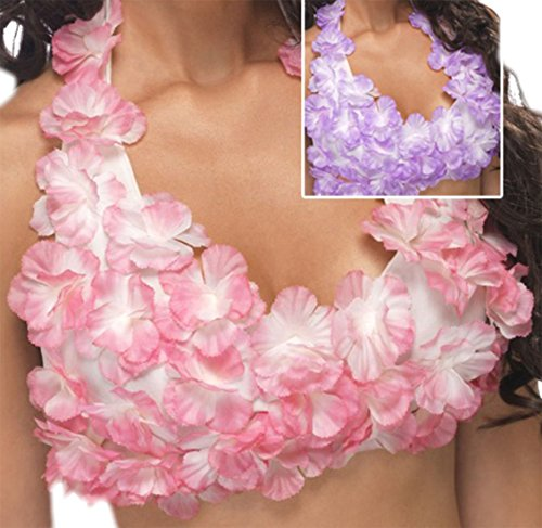 arnevalskostüm Blumen-Neckholder-BH Hawaii, One Size, Rosa ()
