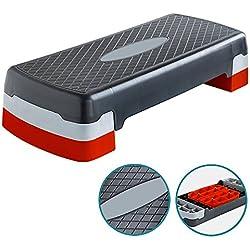 Denny International - Step ajustable de hasta 2 niveles, para aerobic, yoga, fitness, gimnasio, entrenamiento en casa