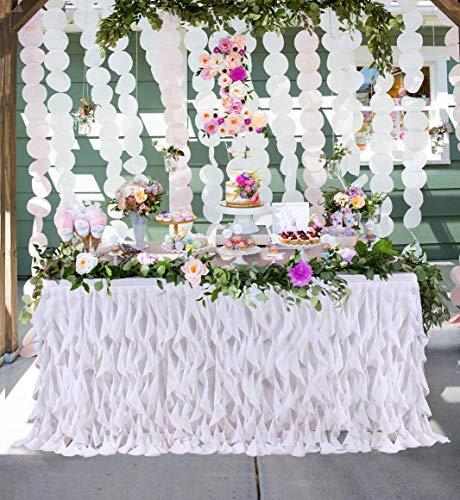 ow Kleid Spitze TAFT Tisch Rock Tutu, Runde oder rechteckige Tisch Rock, geeignet für Geburtstag, Hochzeit, Party Dekoration ()