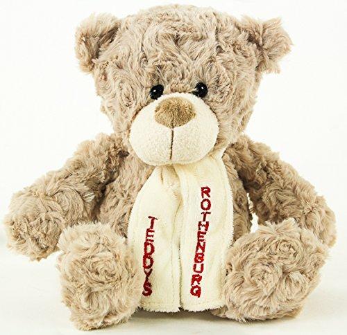 Teddys Rothenburg Teddybär Chris, 19 cm, graubraun, Plüschbär, Kuschelteddy