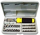 Vedizz Superstake Professional Tool Accessories -41 in 1 Pcs Tool Kit & Screwdriver and Socket Set | 41-Piece Bit & Socket Set