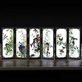 NoBrand Laque Antique, Petit écran, décoration Panda, Cadeaux de Style Chinois, Artisanat Populaire, langage des Oiseaux Blancs, Parfum Floral...