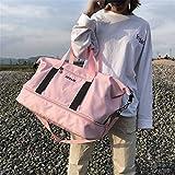 SPOROWJD Frauen männer Sport Taschen für Fitness Wasserdichte Nylon Sporttasche Yoga Ausbildung Handtasche separater Raum für Schuhe Pink
