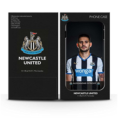 Offiziell Newcastle United FC Hülle / Matte Snap-On Case für Apple iPhone 4/4S / Saivet Muster / NUFC Fussballspieler 15/16 Kollektion Mitrovic