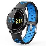 Miya System LtdFitness Armbänder,Smart Sport Fitness Armband Schwimmen Uhr Schrittzähler, weibliche physiologische Aktivität Detektor, Schlaf, Kalorien Schlaf und Kalorien Monitor, Wecker, Kamerasteuerung, kompatibel mit Android und iOS(Blau)