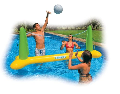 aufblasbares Pool Planschbecken Volleyball Spiel Netz Ball 239 x 64 x 91 cm