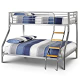 Happy Beds Atlas Triple Sleeper Bunk Bed 3ft / 4ft6 Metal 2x Mattress Furniture