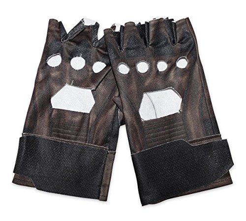 (Captain America Retro Handschuhe im Lederlook)