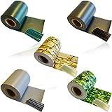 HSM 1 x Zaun Sichtschutz Blende Zaunfolie Sichtschutzstreifen 19cm x 35m aus hochwertigem PVC als Windschutz inkl. 20 Befestigungsclips GRÜN