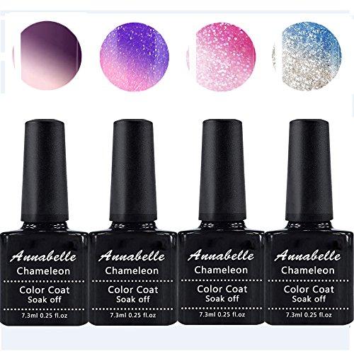 Annabelle Vernis semi permanent cameleon Gel UV LED Nail Art Vernis à Ongles Soak Off Manucure (7.3ml/pc Lot de 4) 016