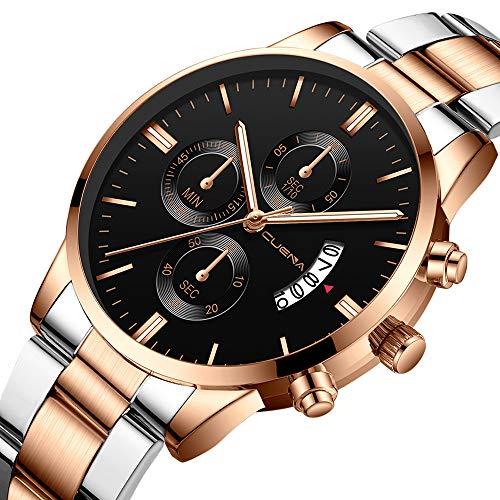 Armbanduhr, Armbanduhr Unisex Armbanduhr Herren Quartz Analog Sale Billige Uhren Herren Uhren Lederband Damen Uhren Rose Gold