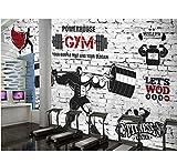 Mkkwp Benutzerdefinierte Größe 3D Foto Tapete Zimmer Wandbild Sport Fitness Club Gewichtheben Malerei Sofa Tv Hintergrund Wand Vlies Wandbild-300x210cm