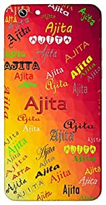 Ajita (Always Winning A Winner Invincible Unconquerable) Name & Sign Printed All over customize & Personalized!! Protective back cover for your Smart Phone : Apple iPhone 7