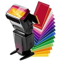 12 قطعة من Strobist Flash Color card diffuser Gel Pop Up Filter for Camera