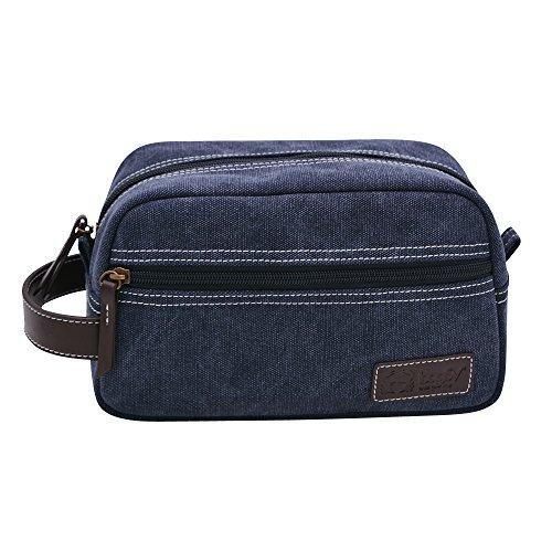 bagSy Crab Your Bag - Trousse de Toilette de haute qualité | Nécessaire de Toilette | Trousse de Maquillage | Plusieurs Compartiments, ultralégère, imperméable et spacieuse | Bleu (Bleu)