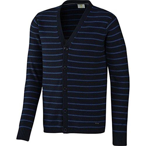 adidas Neo Men's Slim Fit Striped Cardigan Jumper Navy