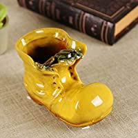 KOONNG Ceramic Fleshy Flowerpot Four Color Little Boots Cute Shoes Succulents Home Vase Decoration