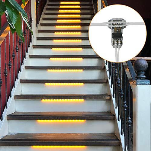 Proventa | LED-Treppenstufenbeleuchtung | Treppenbeleuchtung | Komplettset für 15 Stufen | 2.400K extra warmweiß | 1.600 Lumen | IP20 | Einfache Installation