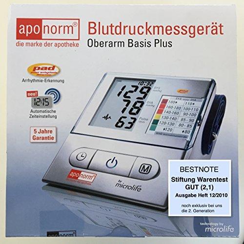 "Wepa Aponorm Basis Plus Oberarm Blutdruckmessgerät Stiftung Warentest ""gut"""