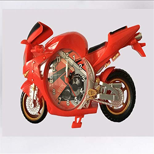 orative Wanduhr für Wohnzimmer & Heim & Büro batteriebetrieben, motorisierte Modell Uhr große Teufel Cooles Auto Modell Uhr ()