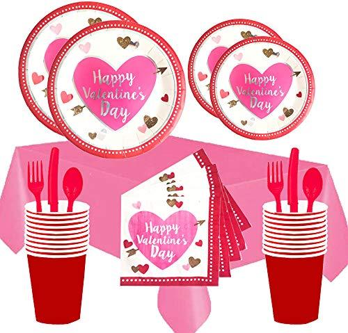 Valentinstag-Party-Set für 16 Gäste, mit Herz-Motiv