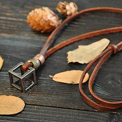 hänger Halskette Vintage Silver Cube Einstellbare Halsketten für Männer und Frauen ()