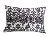 My Flair 24.65RA Orient Kissen mit orientalischen Motiv, 30 x 45 x 14 cm mit Füllung, 50% Baumwolle 50% Polyester, Handwäsche, schwarz/weiß