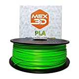 MEX3D PLA-Filament, 1,75 mm, Grün, 1 kg Spule/Rolle, Kunststoffmaterial für 3D-Drucker / 3D-Stift, Vakuumverpackt