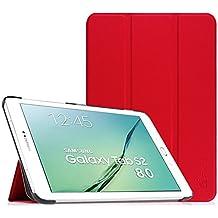 Fintie Samsung Galaxy Tab S2 8.0 Funda - Slim Fit Smart Funda Carcasa con Stand Función y Imán Incorporado para el Sueño/Estela para Samsung Galaxy Tab S2 8.0 pulgadas (Rojo)