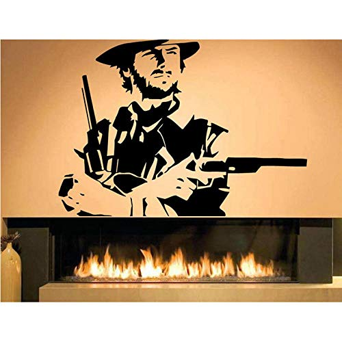 est Country Cowboyhut Western Vinyl Wohnkultur Wandaufkleber Removable Kinderzimmer Gun Dekoration Decals ()