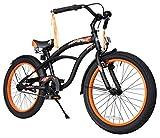 """Bikestar Bicicleta para niños x2605; 20 pulgadas x2605; Color Negro x2605; Frenos de tiro lateral y freno de contrapedal x2605; A partir de 6 años x2605; 20"""" Cruiser Edition 2018"""