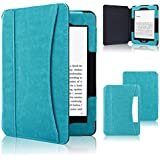 ACcolor Kindle Paperwhite Case 2018, Folio Smart Cover Leather Case with Auto Sleep Wake Feature fit All Kindle Paperwhite New and Old Models, Sky Blue