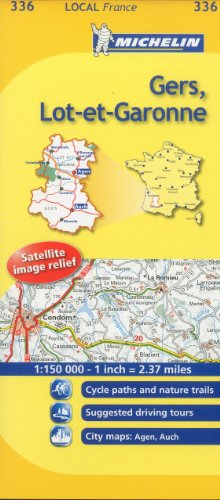 Gers, Lot-et-Garonne Michelin Local Map 336 (Michelin Local Maps)