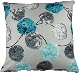 "Grey Blue Leaves Throw Pillow Covers Pillowcase Sham Decor Cushion Cover Slipcovers Square 20x20 Inch 20"" Only Cover No Insert"