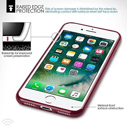 iPhone 8 / iPhone 7 Case, Terrapin TPU Schutzhülle Tasche Case Cover für iPhone 8 Hülle Matt Rot Matt Rot