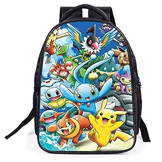51r0ZbawGYL. SS324  - Mochila Pokemon Escolar, Mochila Pokemon Go Pikachu Estudiantes para Infantil Niños y Niñas Unisex Bolsa Portátil para Mujeres Hombre Viaje Hombro Mochila Backpack para Adolescentes Eevee