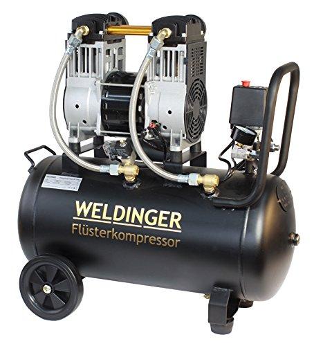 WELDINGER Flüsterkompressor FK 170 pro 1600 W Luftabgabe 170 l ölfrei