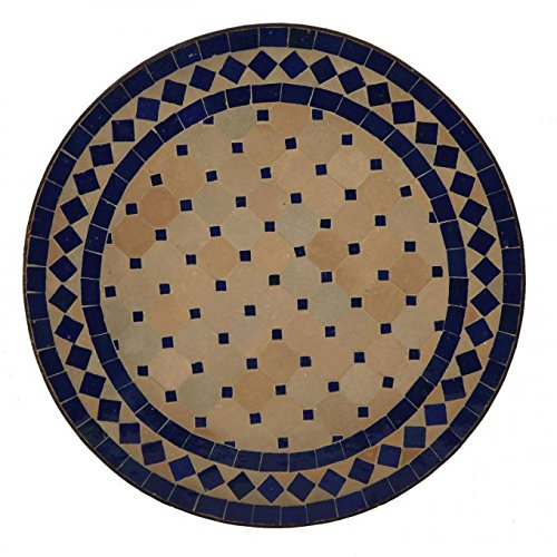 Casa Moro Orientalische Mosaiktische Ø45 cm Blau